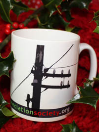 A Telegraph Pole Appreciation Society Mug